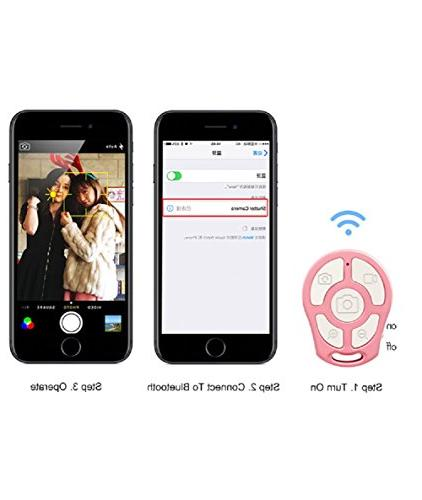 RockFoxOutlet 5-In-1 Universal Wireless Selfie Shutter Self-Timer Remote Selfie iOS and Android