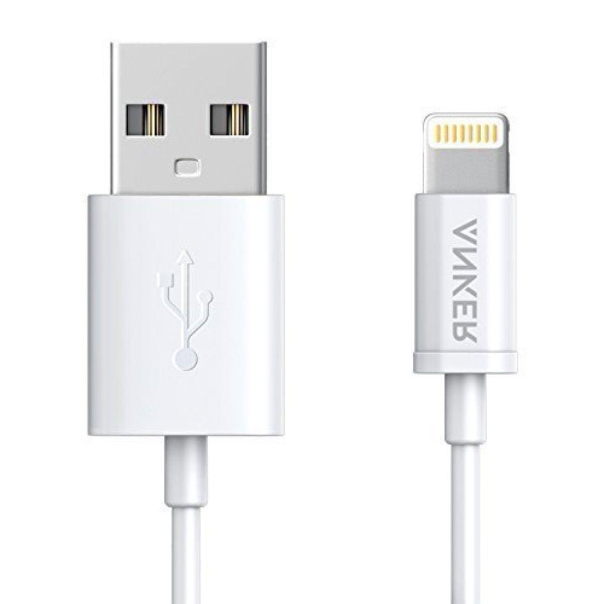 Anker Cable iPhone X USB Charger Lightning Mfi Powerline Cer