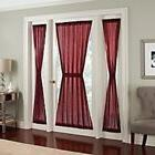 Crushed Voile Rod Pocket 40-Inch Side Light Window Curtain P