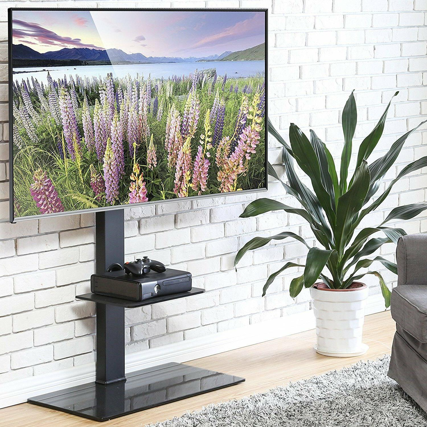 "Fitueyes TV Stand Shelves With Swivel Mount For 50-80"" Plasm"
