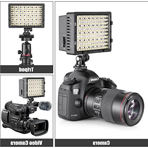 NEEWER 160 LED Dimmable Ultra High Power Panel Digital Camcorder Video Light, LED Light Canon, Nikon, Pentax,