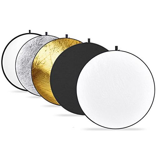 PHOTO LIGHT REFLECTOR VINTAGE COLLAPSIBLE SILVER