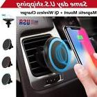Qi Wireless Car Charger Magnetic Mount Holder For iPhone X/
