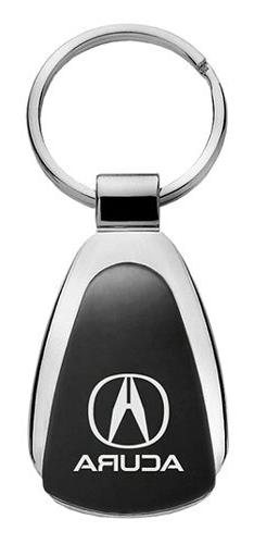 Acura Black Tear Drop Metal Key Ring