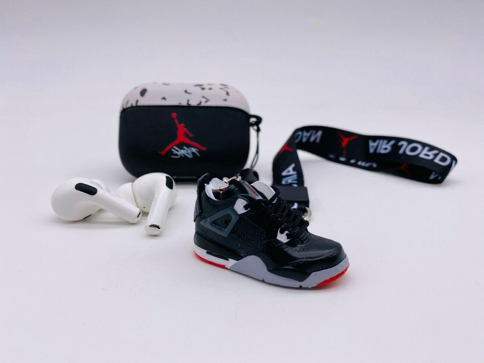 AirPod PRO case JORDAN CEMENT Inspired Case or GIFT SET 3D Keychain