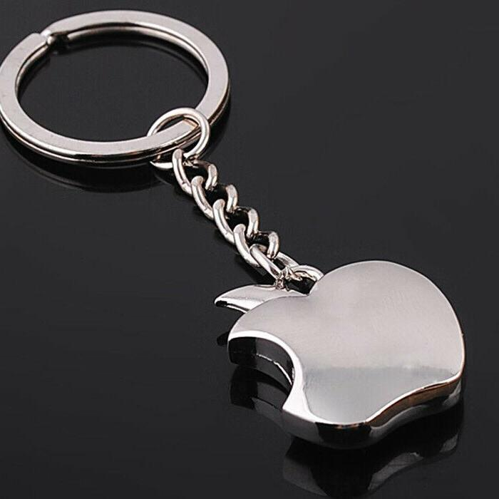 Apple logo Metal Chain Apple Keychain Ring