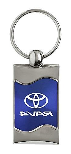 Au-Tomotive Gold, INC. Toyota Rav4 Rectangular Blue Car Key