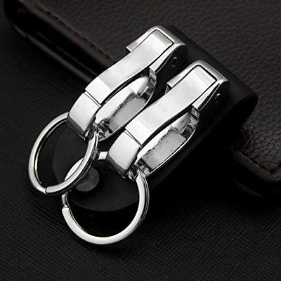 BEST Leather Key chain Detachable Clips&Key Ring Holder US