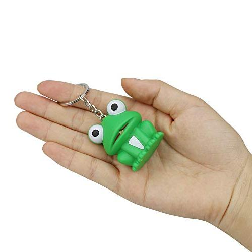 Hisoul Frog Keychain - and Sound Funky for Toddlers Babies