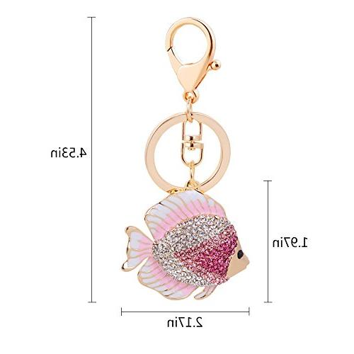 Cute Goldfish Animal Key Ring Bag Accessory Free with