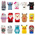 Cute Kids Girl 3D Cartoon Silicone Case Skin Cover For iPhon
