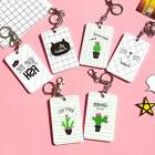 Cute Succulent Plants ID Card Holder Case Cover Lanyard Key