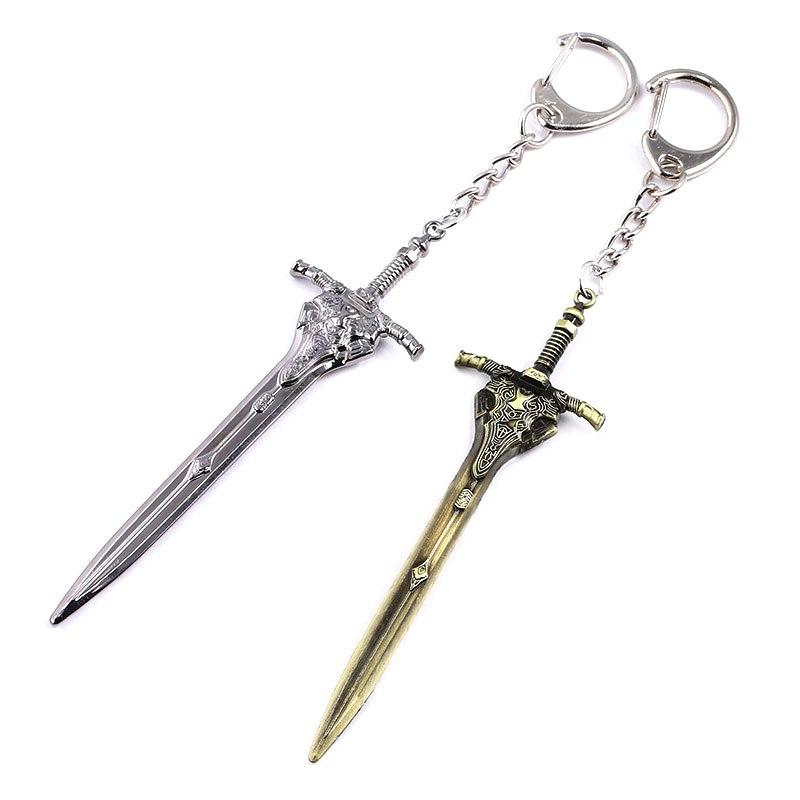 Dark Souls <font><b>Chain</b></font> Keychain Solaire Of Sun Keyring for Men Jewelry