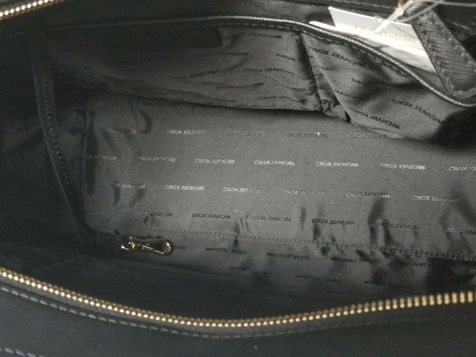 Michael Kors DEE Large Black Saffiano Leather Tote NWT