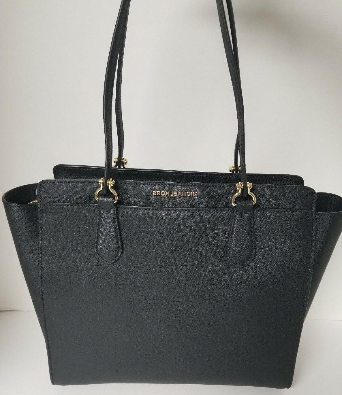 dee dee large black convertible saffiano leather