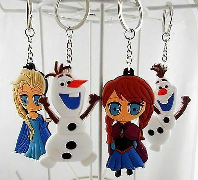 Disney Princess Frozen Elsa Anna Olaf Snowman Key Chain Key