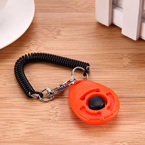 Dog Clicker - Pet Trainer Dog Clicker Sound Doggy Train Click Ring Train Pink Brush Lot