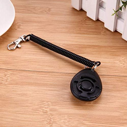 Dog Clicker - 1pc Pet Trainer Clicker Sound Key Chain And Wrist Doggy Train Click - Ring Pink Lot