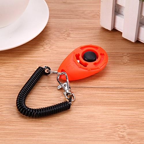 Dog Pet Training Chain And Wrist Strap Doggy Train Click Ring Train Bopoo For Pink Brush Barking Lot