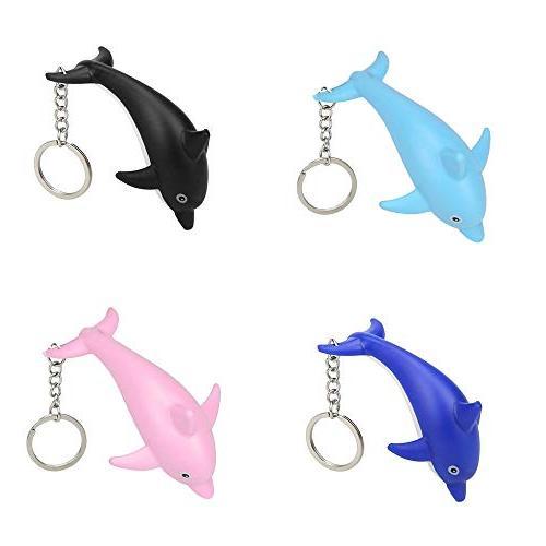 Gbell Keychain Toys with LED Light and Sound Cute Dolphin Key for Boys Girls Toddler School