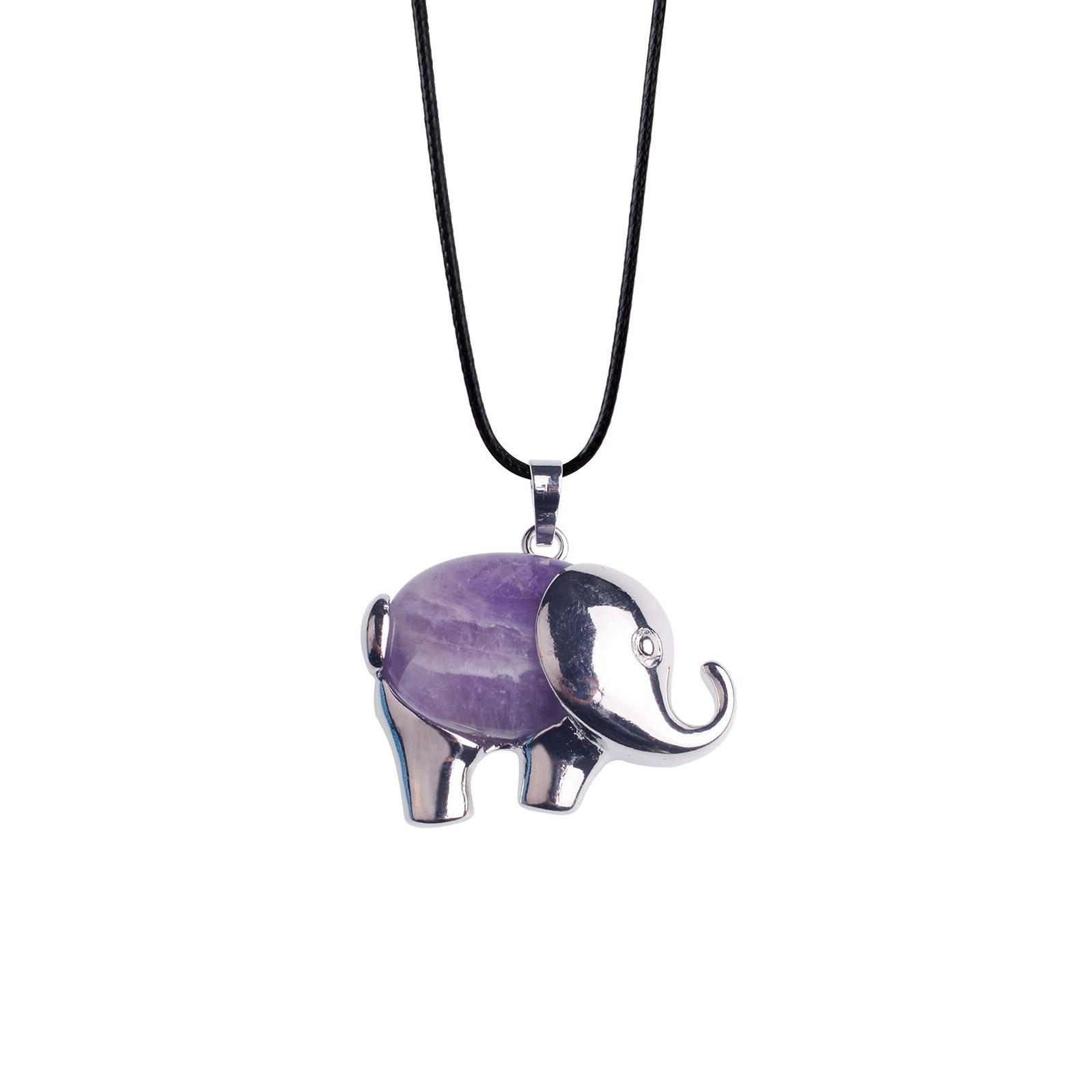 elephant love keychain for women gemstone chakra