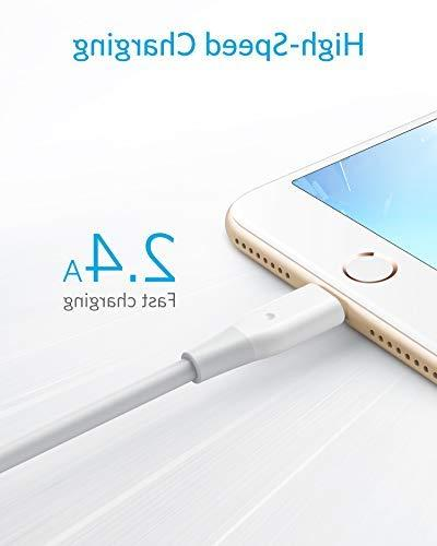 iPhone Anker Lightning Certified, Lightning Cable/Charger iPhone Max/XR/X / 7/7 Plus/iPad, and More