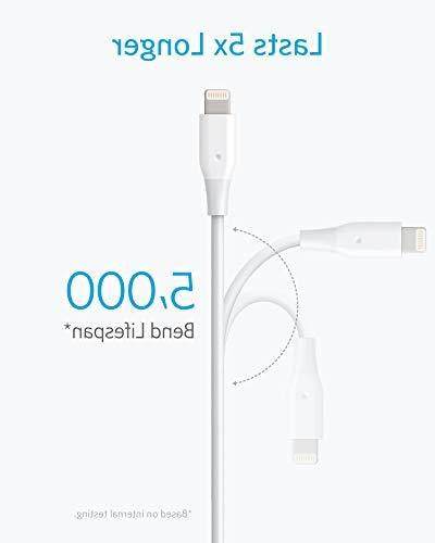 iPhone Charger, Lightning Certified, Cable/Charger Cord, Max/XR/X / 7/7 Plus/iPad, and More