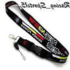 JDM HONDA MUGEN BLACK Lanyard Neck Phone Key Chain Strap Qui
