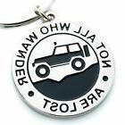 """Key Chain for Jeep Enthusiasts""""Not All Who Wander Are Lost"""""""