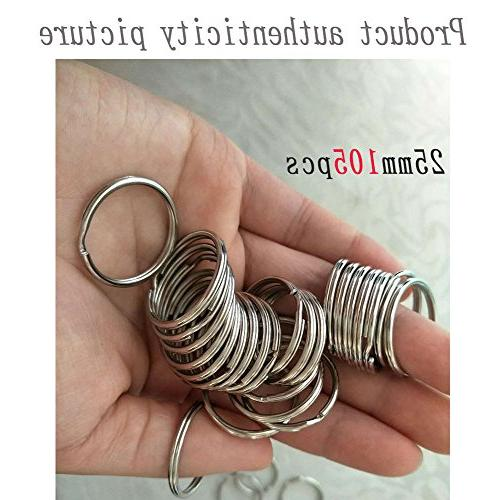 Key Bulk Chain Connector Keychain, Key Chain Chains, Key Equipment and gatekeepers Ring, Arts & 105 PCS