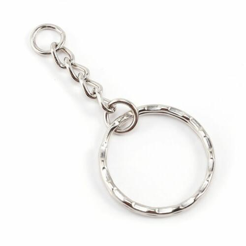 20 PCS Keyring Silver Tone Findings Split Link