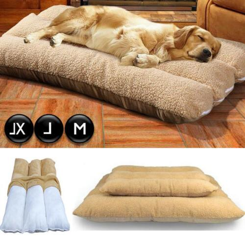 large dog cushion mat fleece soft sleeping