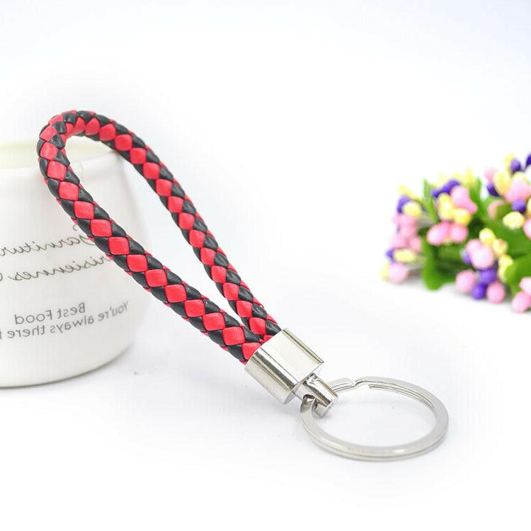 Leather Braided Chain Strap
