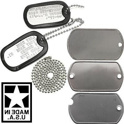 Made In USA Custom Printed Dog Tags Personalized Military GI