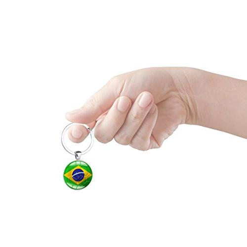 Set Metal Football Pattern Keychain Rings for Soccer FIFA World Cup Fans Gift
