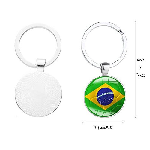 Set of Pcs Metal National Pattern Keychain for Fans Gift