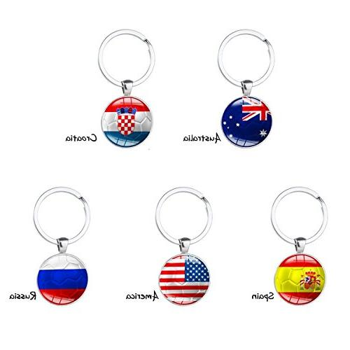Set of 15 Pcs Metal Flag Pattern for FIFA World Fans