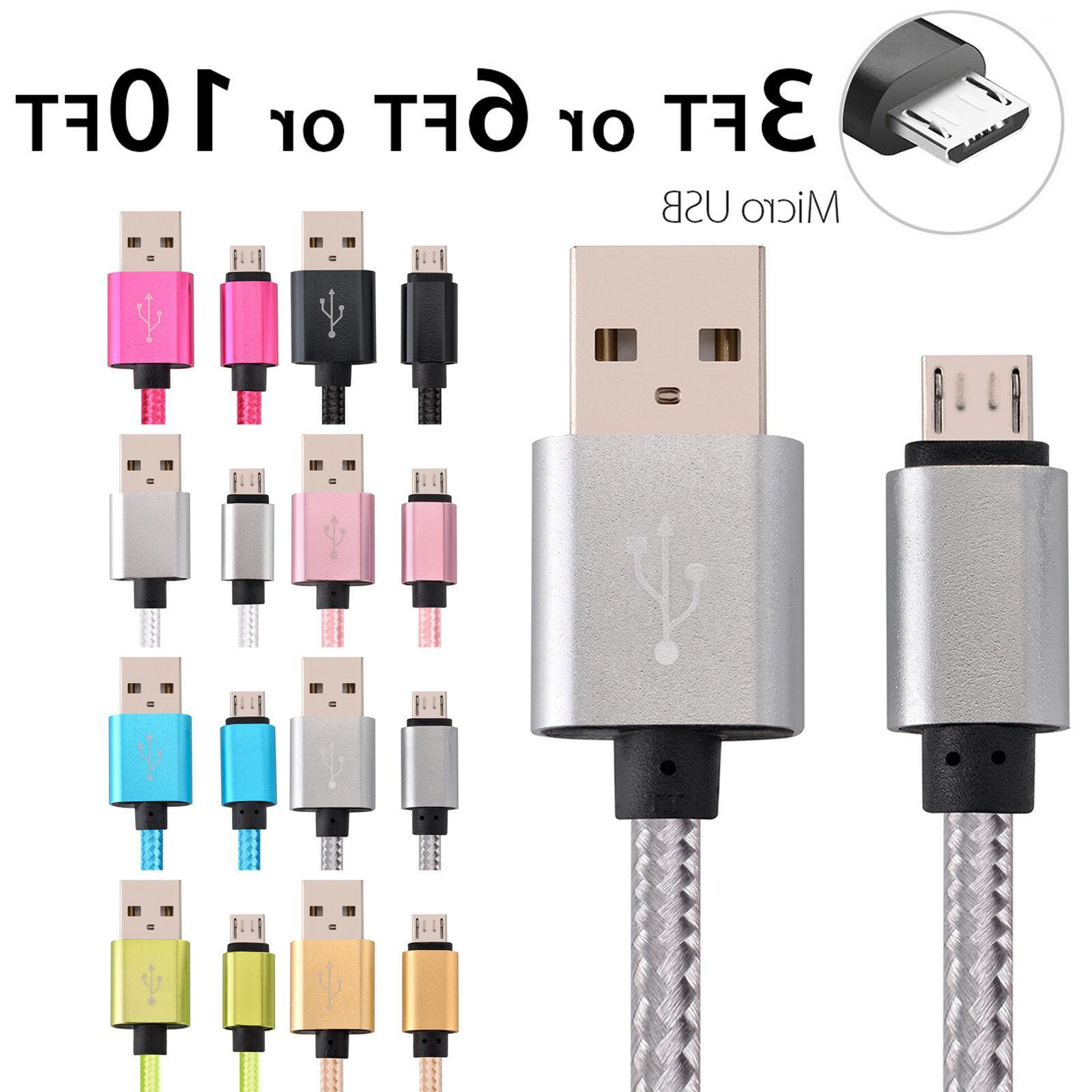 micro usb fast charger data sync cable