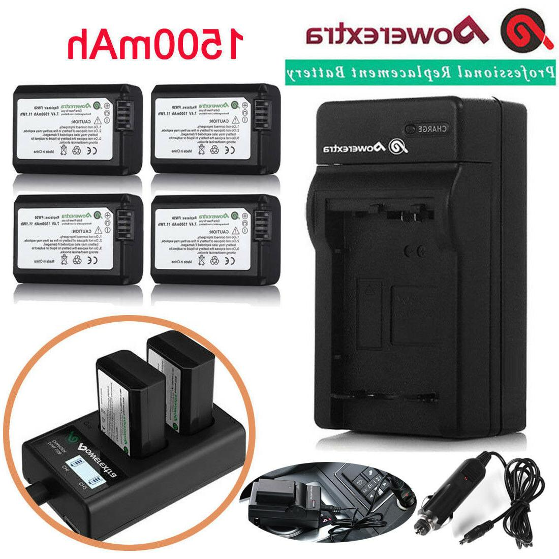 NP-FW50 Battery for Sony Alpha A6500 A6300 A6000 A7r A7 & LC