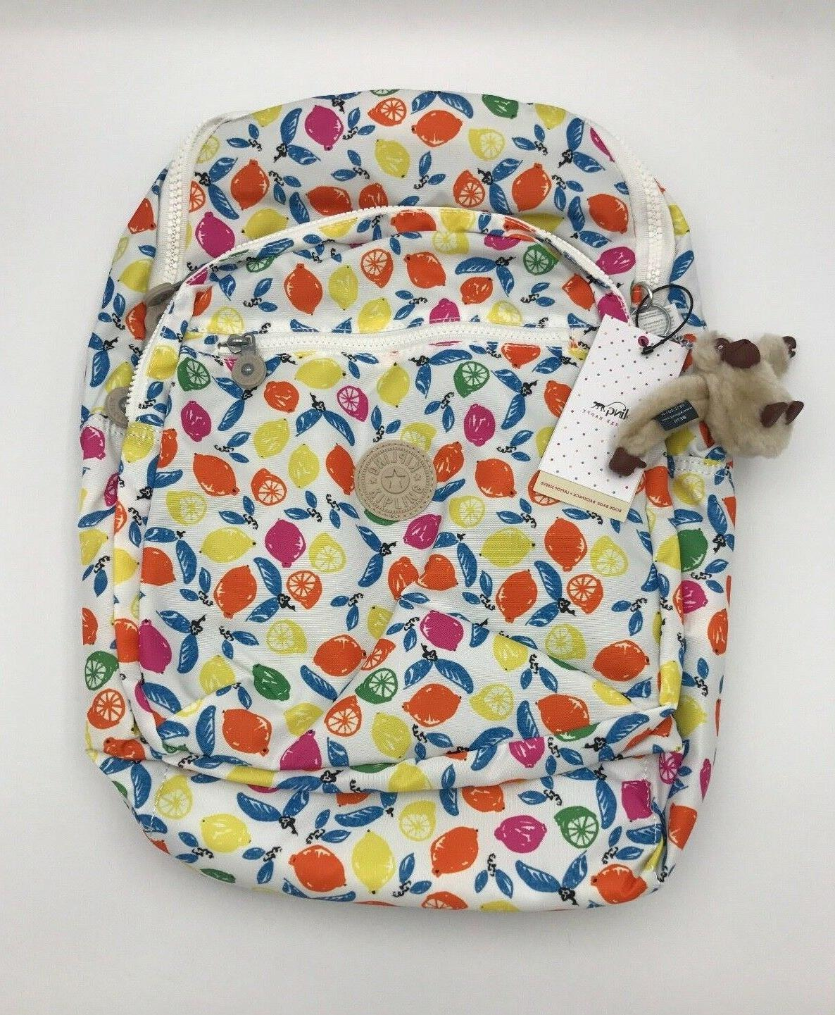 NWT Kipling Seoul Large Backpack with Laptop Protection Citr