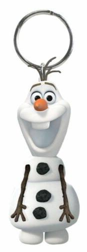 olaf key chain 3d snow man pvc