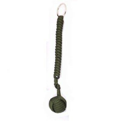 Outdoor Self Paracord Monkey Fist Keychain Lanyard Gadget