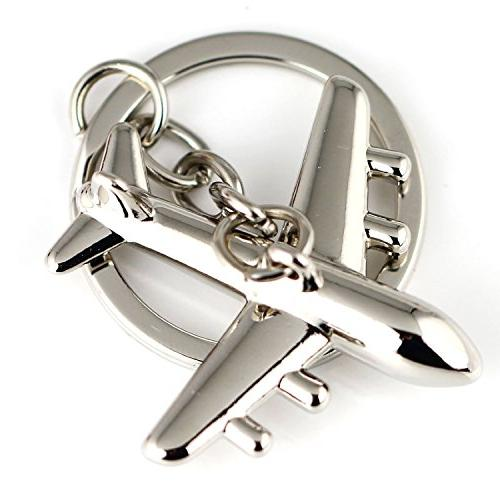 Maycom Fashion Aircraft Model Keychain Key Ring Keyfob