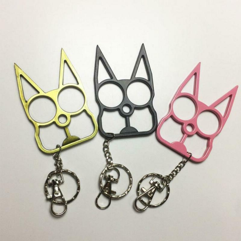 Classic Cat-Self-Defense Key Chain Keyring Emergency Metal T