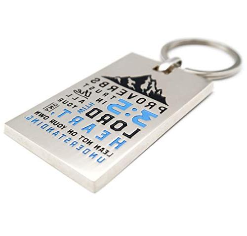 Proverbs 3:5 Keychain with - Gift Chain for Ministers Men Women