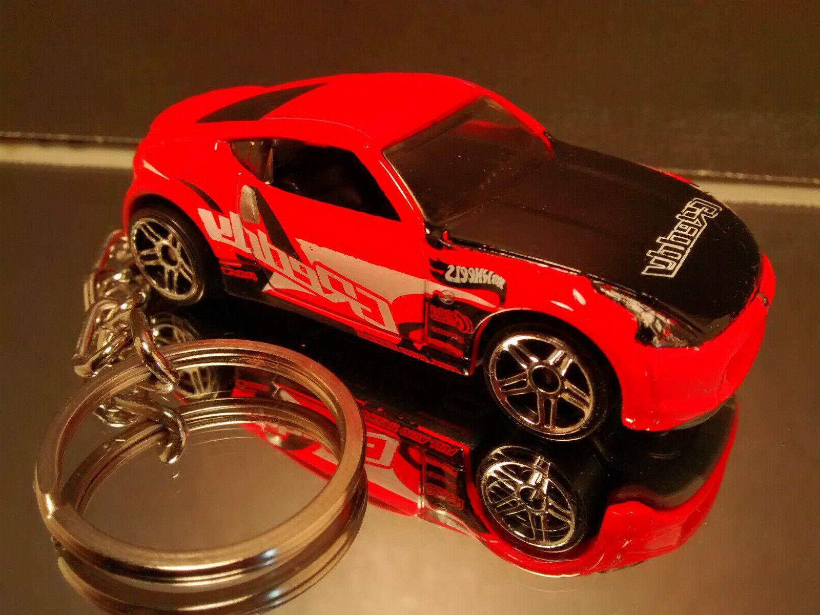 Red Nissan Key Chain Ring