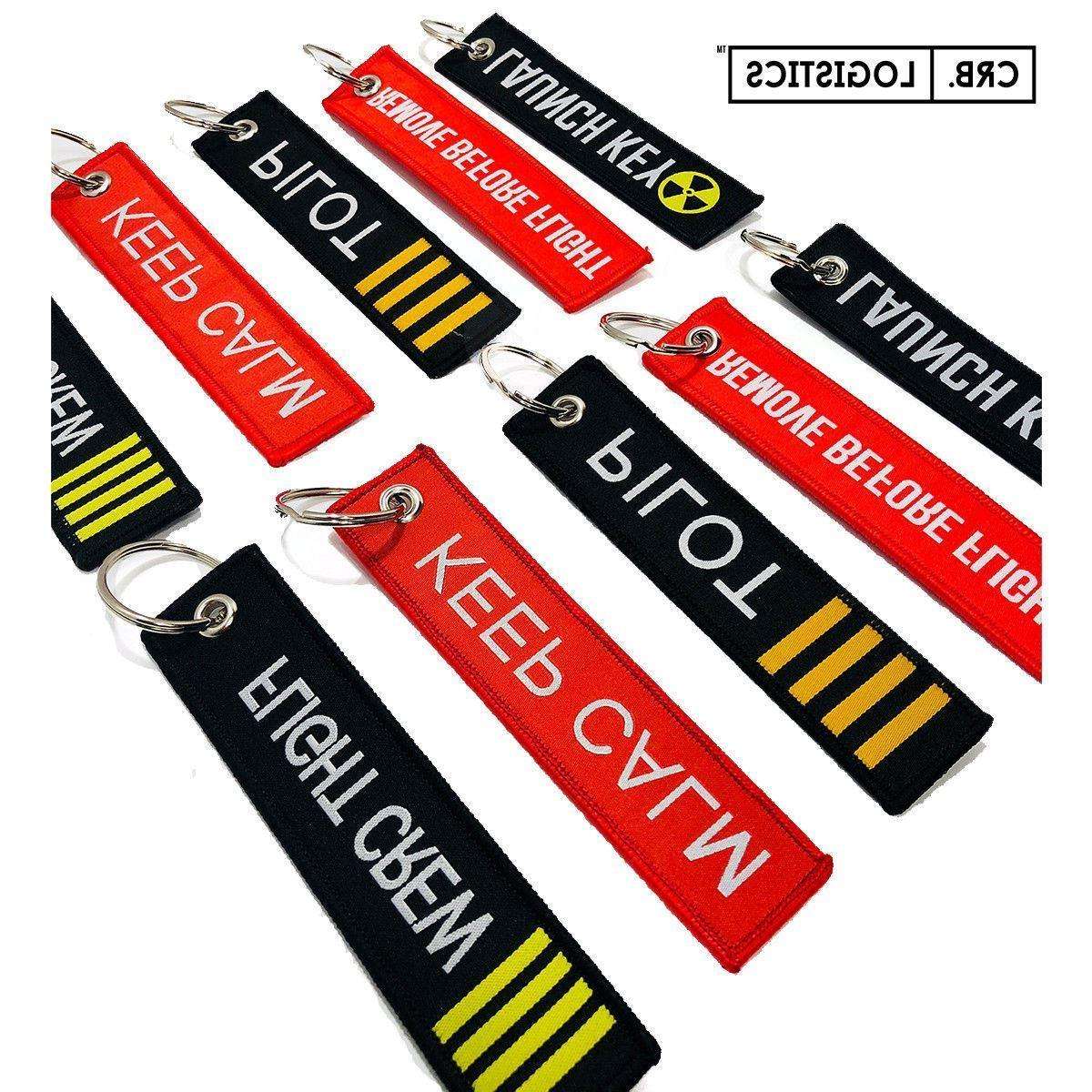 remove before flight launch key chain luggage