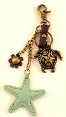 Chala & Starfish Chain Purse Fob