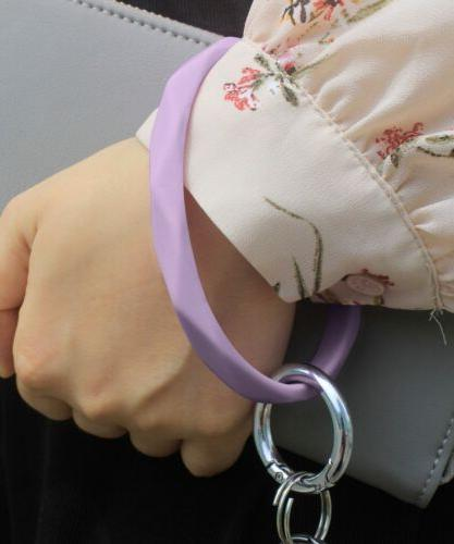Silicone Bracelet Keychain Chain Band Ring