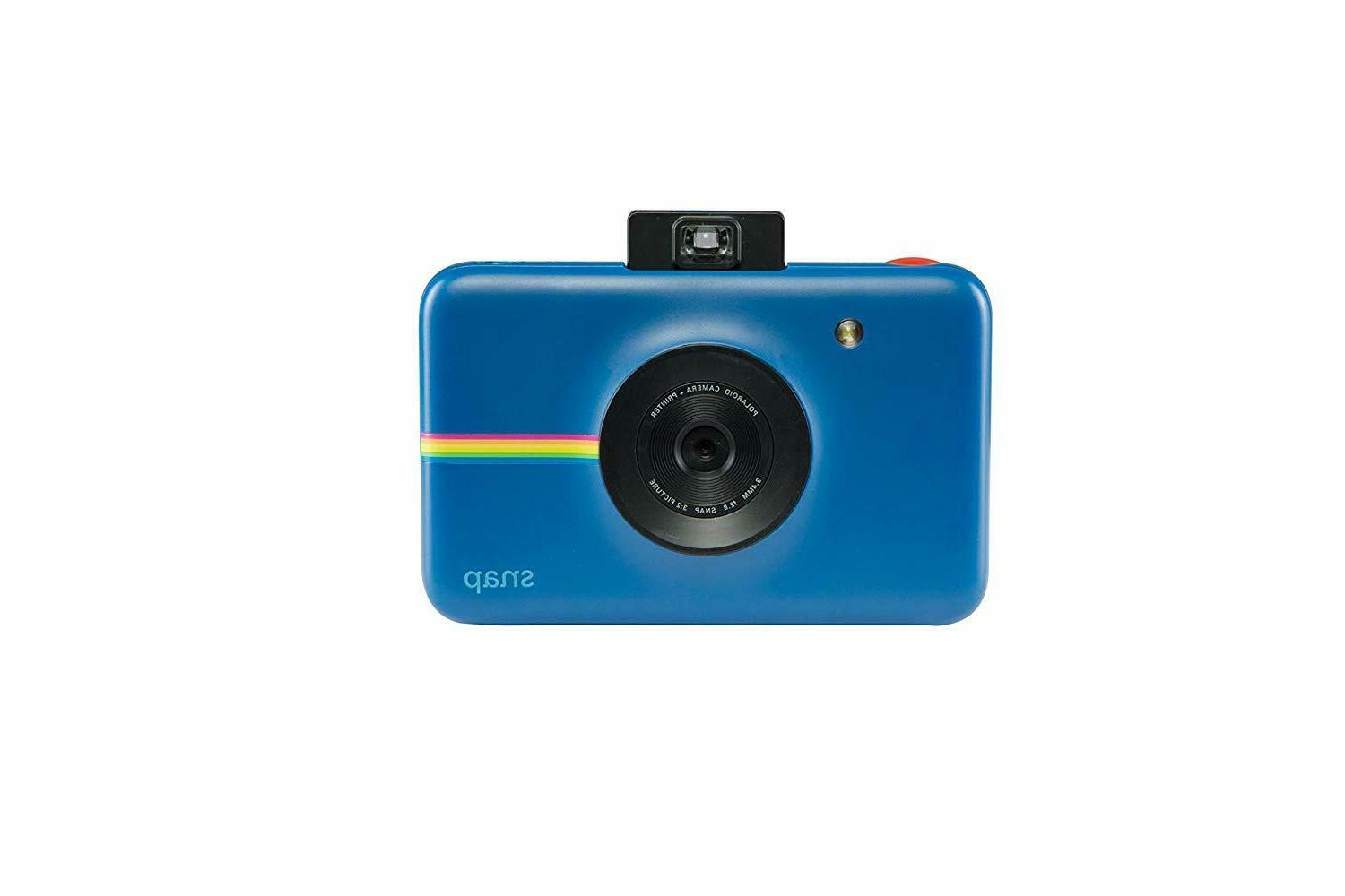 snap instant digital navy blue camera